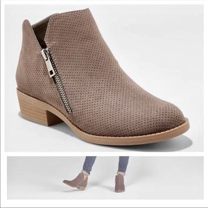 Universal Thread Taupe Dylan Laser Cut Booties 6.5